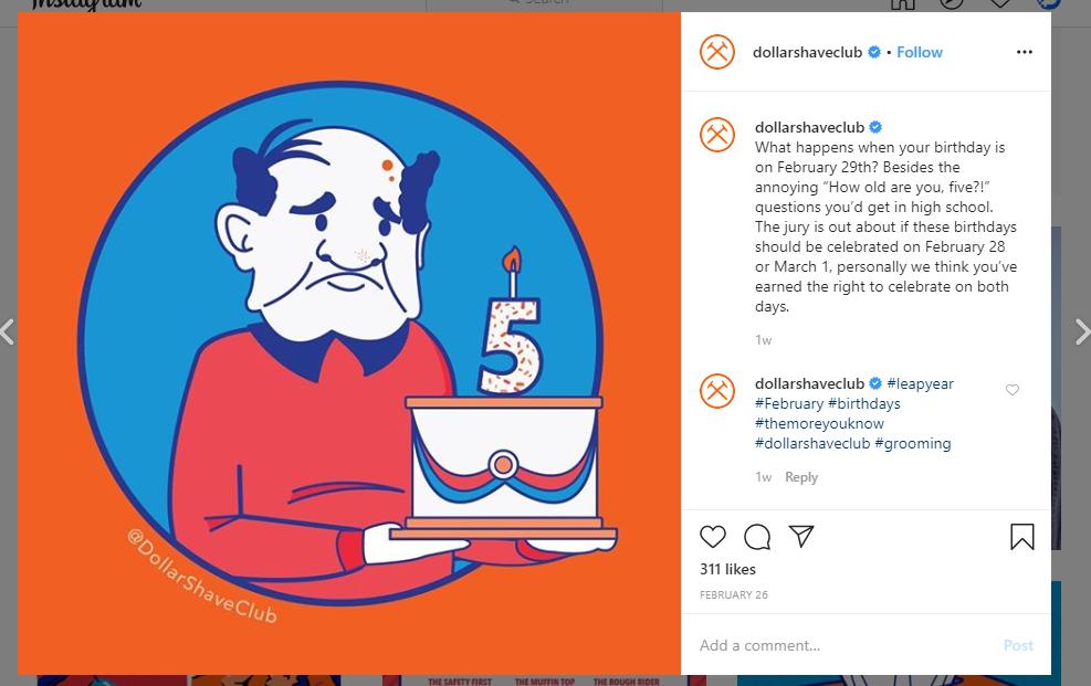 Dollar Shave Club - Social Media Marketing Strategies