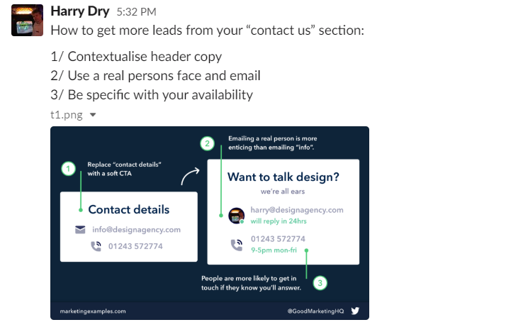 Marketing Examples - Harry Dry