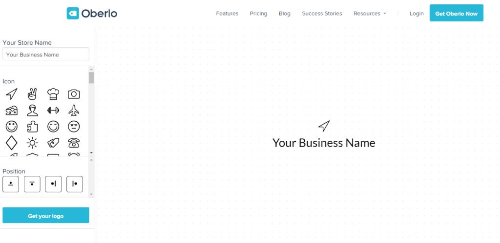 Oberlo - Logo Design Software