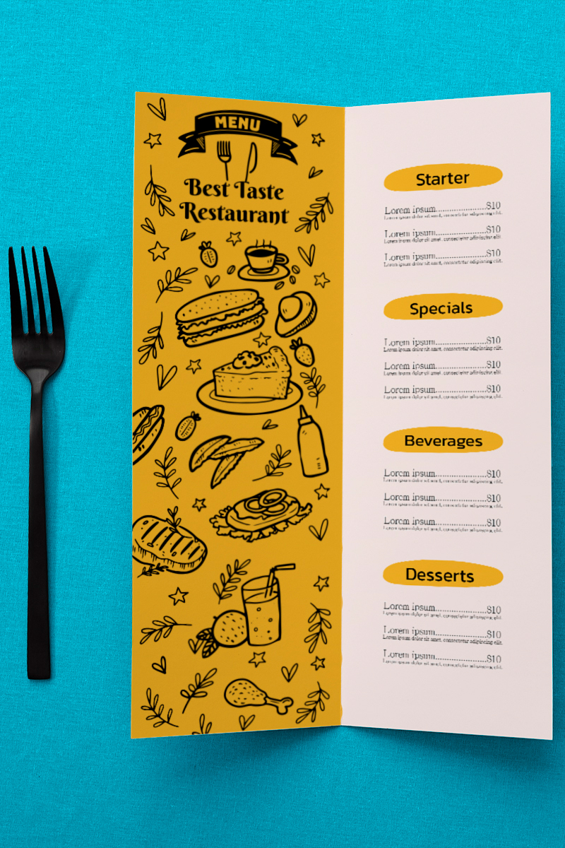 graphic design services Food Menu 2 1