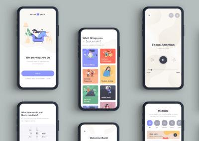 Graphic Design Portfolio App mockup
