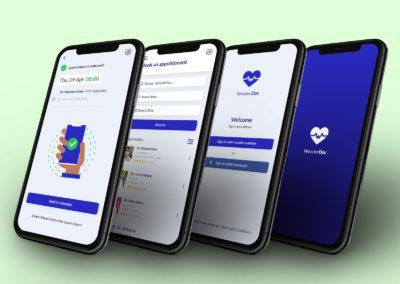 Graphic Design Portfolio Medical app