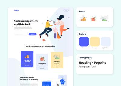 Graphic Design Portfolio Web UI 1