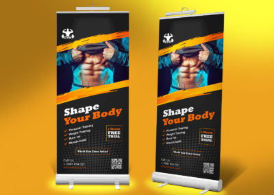 Graphic Design Portfolio standee 1