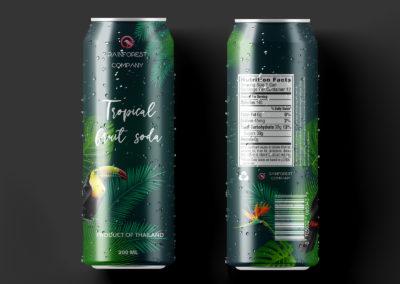Graphic Design Portfolio Can soda packaging