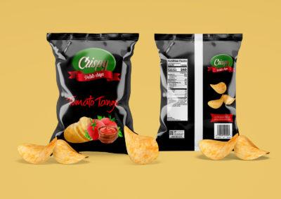 Graphic Design Portfolio Chip packaging label