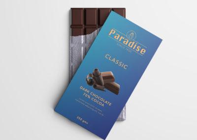 Graphic Design Portfolio Chocolate packaging label