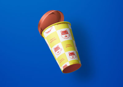 Graphic Design Portfolio Coffe cup packaging label