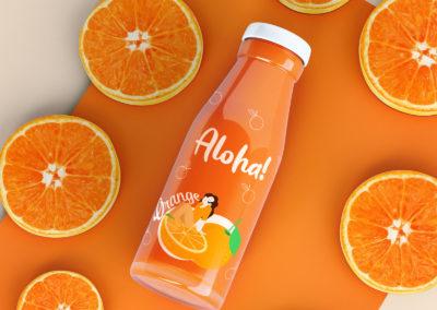 Graphic Design Portfolio Orange juice packaging label