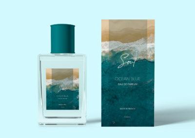 Graphic Design Portfolio Perfume bottle packaging label