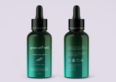 Graphic Design Portfolio Serum bottle packing