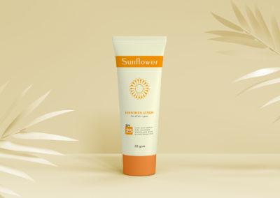 Graphic Design Portfolio Sunscreen lotion
